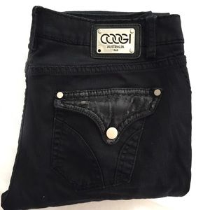 COOGI black cargo edgy jeans